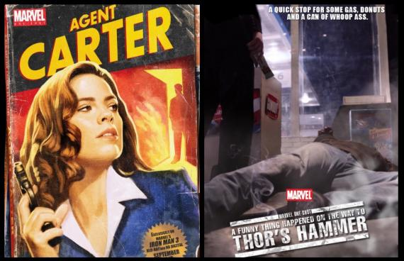 Pósters de los cortos Marvel One-Shot: Agent Carter y A Funny Thing Happened On The Way To Thor's Hammer