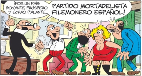 Interior del cómic Mortadelo y Filemón: Elecciones