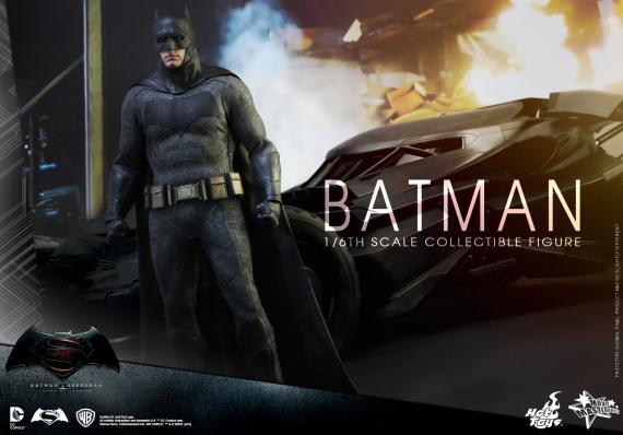 La figura de Hot Toys de Batman en Batman v Superman: Dawn of Justice (2016)