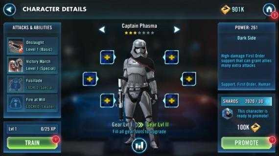 Star Wars: Galaxy of Heroes se actualiza con los personajes de Star Wars: El Despertar de la Fuerza