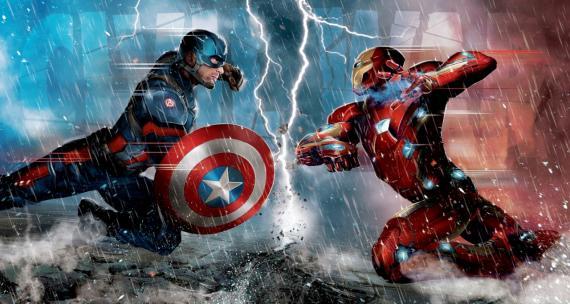 Arte conceptual de Capitán América: Civil War (2016), Capitán América contra Iron Man