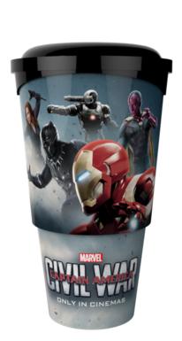 Los dos bandos de Capitán América: Civil War (2016) en material promocional