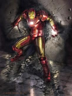 Concept art de Iron Man (Mark III) en Iron Man (2008), obra de Phil Saunders