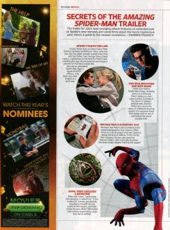 Captura de la revista Entertainment Weekly, un resumen de The Amazing Spider-Man