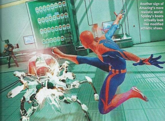 Scan del videojuego The Amazing Spider-Man (2012) de la revista Official Xbox 360