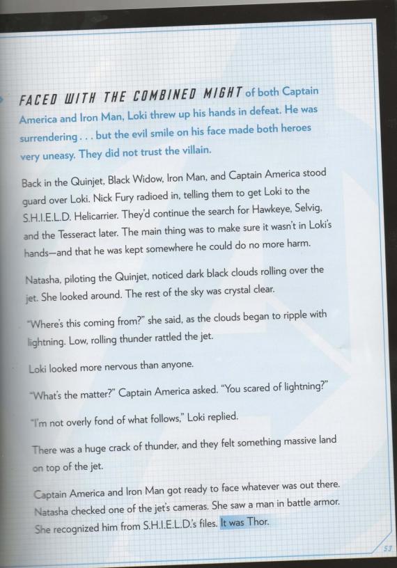Captura del Storybook de The Avengers, página 53