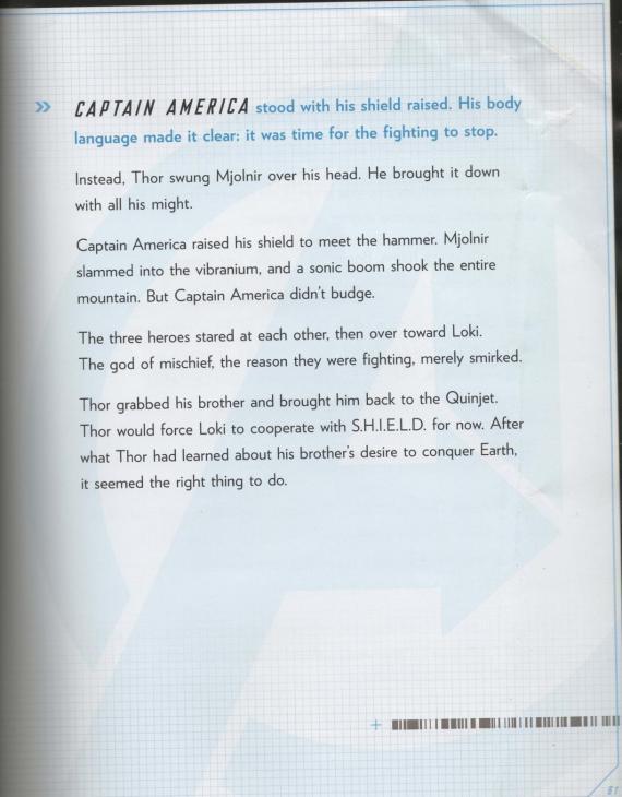 Captura del Storybook de The Avengers, página 61