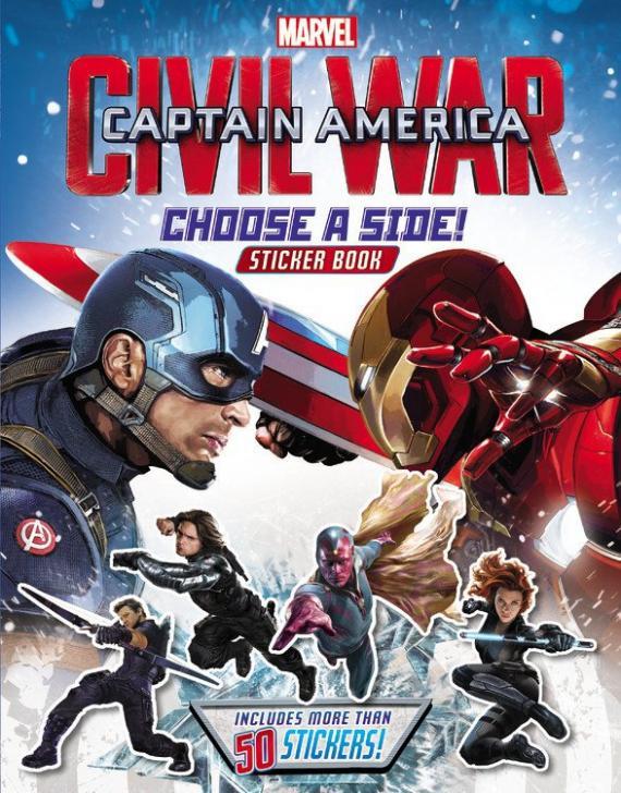Arte promocional de Capitán América: Civil War (2016) en el merchandising