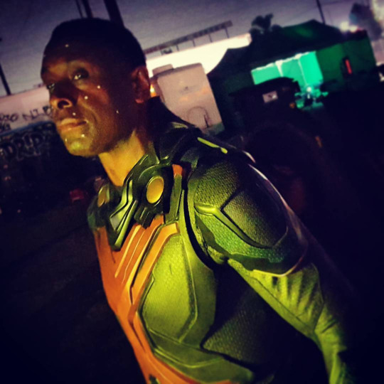 David Harewood en el set de Supergirl (2015 - ?)