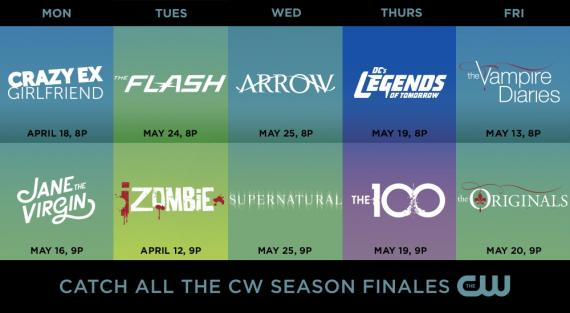 The CW pone fecha a los finales de la temporada 2015-2016 de The Flash, Arrow, DC's Legends of Tomorrow e iZombie