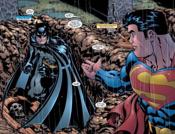 Página doble de Superman / Batman: Public Enemies