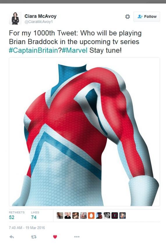 ¿Tiene Marvel una serie de Capitán Britania en desarrollo?