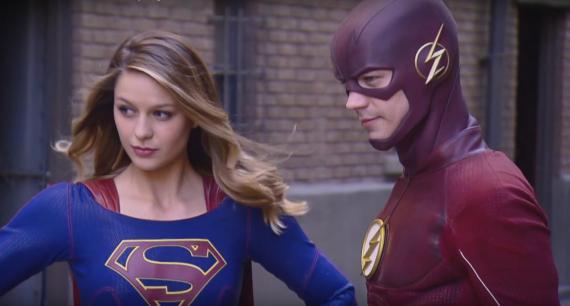 Imagen del crossover entre Supergirl y The Flash