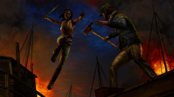Imagen del episodio 2 'Give No Shelter' de The Walking Dead: Michonne (2016), de Telltale