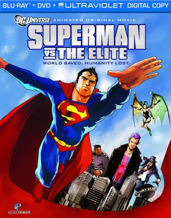 Posible portada del Blu-ray de la película de animación Superman vs The Elite (2012)