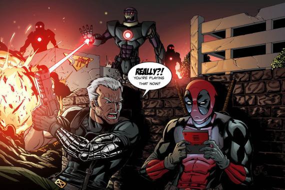 Deadpool y Cable en los cómics