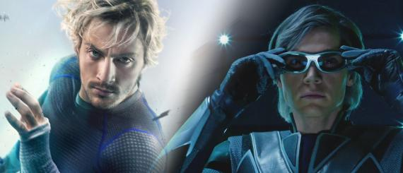 Aaron Taylor-Johnson y Evan Peters son Quicksilver