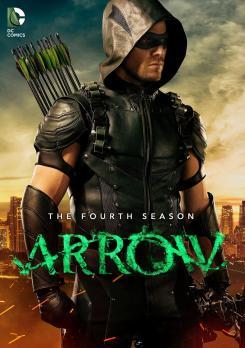 Carátula del Blu-ray de la cuarta temporada de Arrow