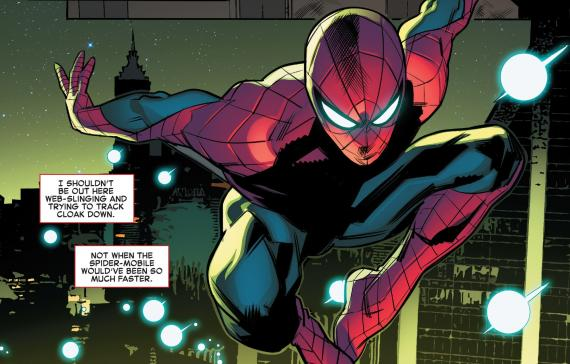 Asombroso Spider-Man 115 - Panel interior, de Matteo Buffagni