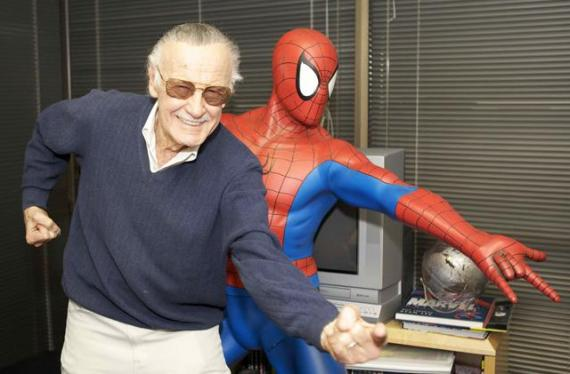 Stan Lee con Spider-Man