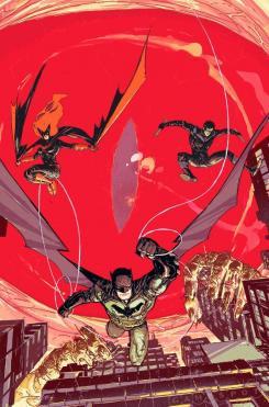 Portada del cruce de Batman, Nightwing y Detective Comics en Rebirth: Night of the Monster Men