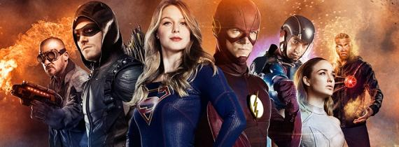 Póster conjunto de Arrow, The Flash, DC's Legends of Tomorrow y Supergirl