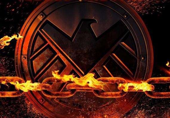 Recorte del póster de la cuarta temporada de Agentes de S.H.I.E.L.D.