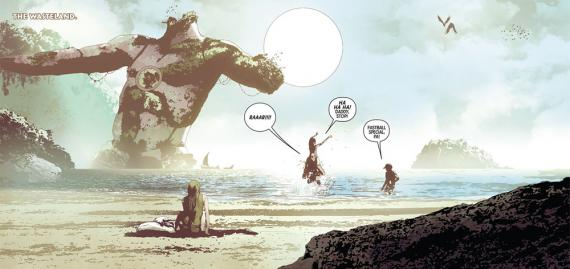 Imagen de Old Man Logan Vol. 2 #3, de Jeff Lemire y Andrea Sorrentino