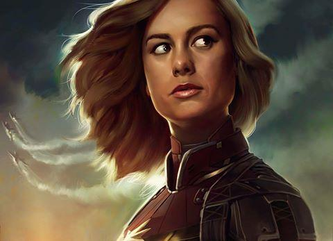 Fan-art de Brie Larson como Capitana Marvel