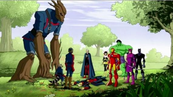Vengadores y Guardianes de la Galaxia en Avengers: Earth Mightiest Heroes