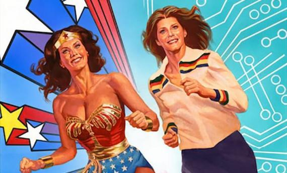 Portada de Wonder Woman '77 Meets The Bionic Woman