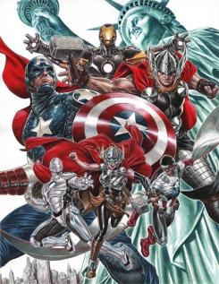 All-New, All-Different Avengers, imagen póster para la New York Comic Con 2014