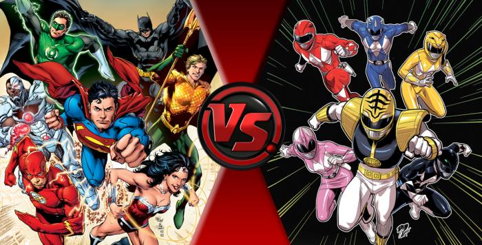 Rumores de un cómic Justice League vs. Mighty Morphin Power Rangers