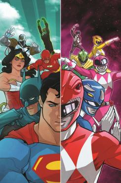 Portada de Justice League / Mighty Morphin Power Rangers #1