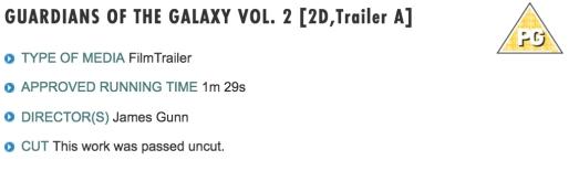 Calificado también el trailer de Guardianes de la Galaxia Vol. 2