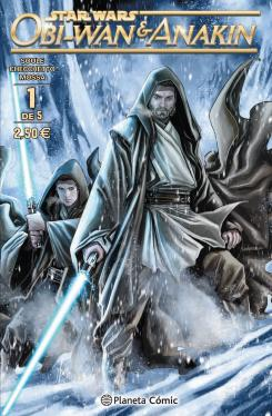 Portada del cómic español Star Wars Obi-Wan and Anakin nº 01