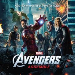 Disco Avengers Assemble, con canciones sacadas o inspiradas en la película The Avengers / Los Vengadores (2012)