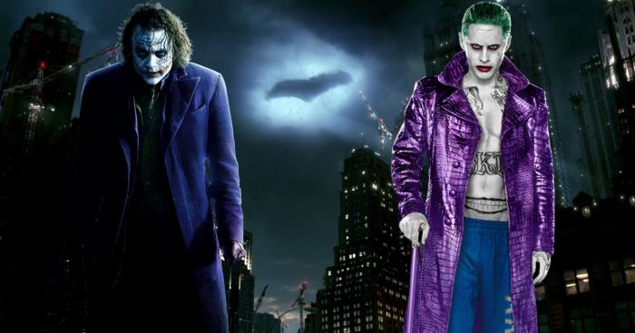 Heath Ledger y Jared Leto como Joker