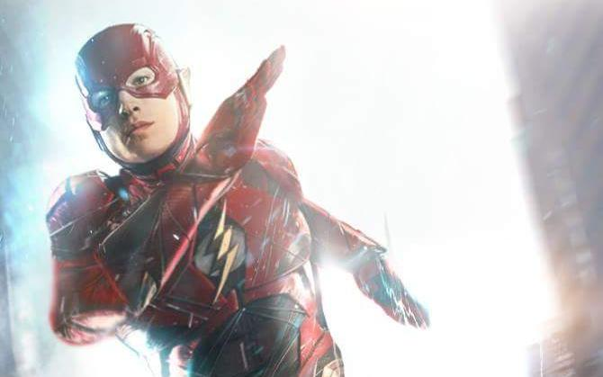 Fan Art de Ezra Miller como The Flash, por BryanZap de DeviantArt