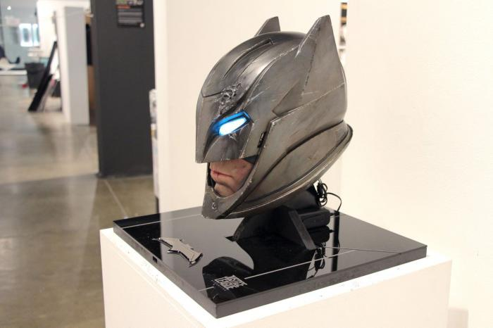Supuesta imagen del casco de Batman en Justice League