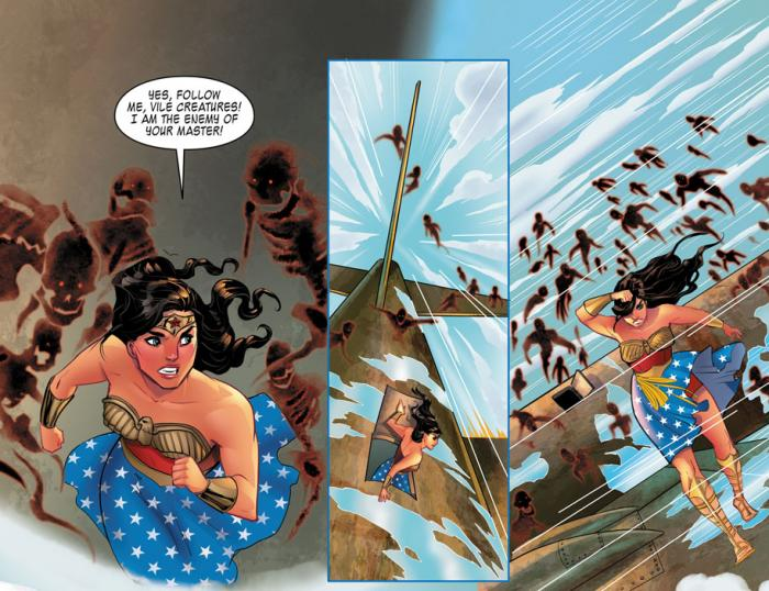Viñeta de Legend of Wonder Woman de Renae de Liz