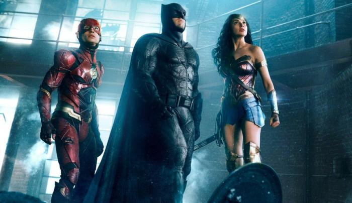 Imagen de Flash, Batman y Wonder Woman en Justice League (2017)