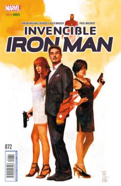 Invencible Iron Man 72 - Portada de Alex Maleev