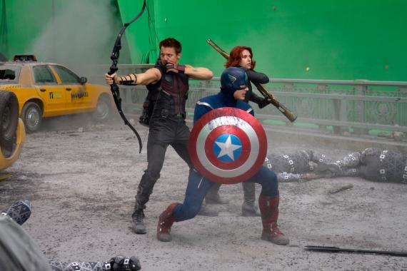 Imagen oficial del set de The Avengers / Los Vengadores (2012)
