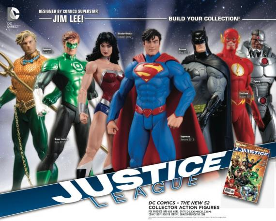 Imagen de las figuras de Justice League en The New 52