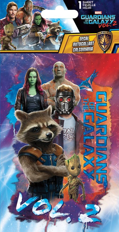 Arte promocional en merchandising de Guardianes de la Galaxia Vol. 2
