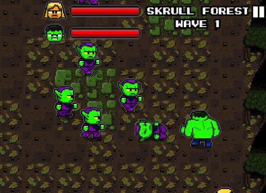 Imagen del juego de The Avengers / Los Vengadores, lanzado por Dr. Pepper: The Avengers The Arcade Game