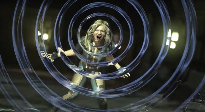 Captura del trailer de presentación de Black Canary en Injustice 2 (2017)