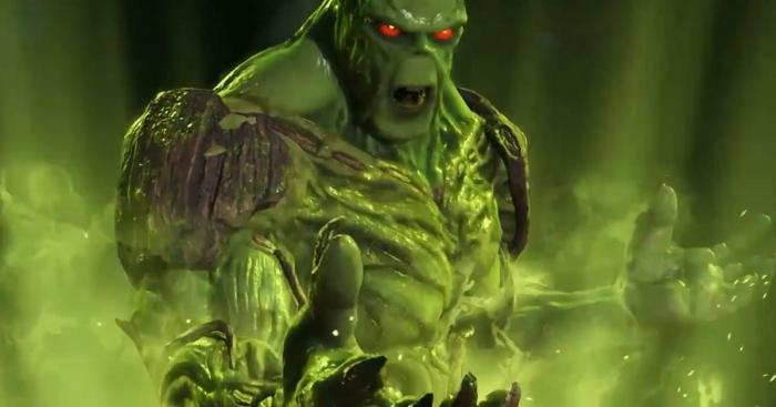 Captura del trailer de presentación de Swamp Thing en Injustice 2