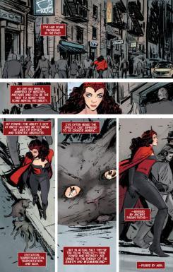 Interior de Scarlet Witch vol.2 #1, arte por Vanesa del Rey